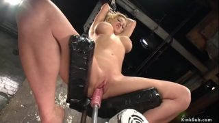 Busty Tied Blondie is Device Fucked